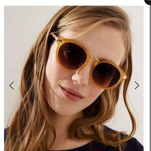 Ann Taylor LOFT Metal Bridge Round Sunglasses